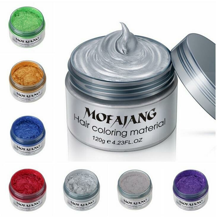 Temporary Hair Color Wax One-time Unisex Hair Dyes Instant Hairstyle Mud Cream