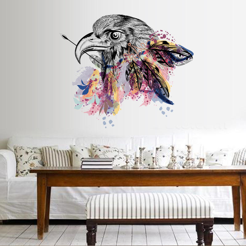 The Eagle Stickers Wall Sticker Bedroom Decor Hark Home PVC DIY Art Decals COD