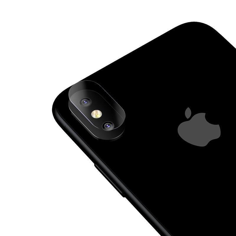 851ffe098 Baseus 0.15mm Contraportada Cámara Lente Película de cristal templado para  iPhone X