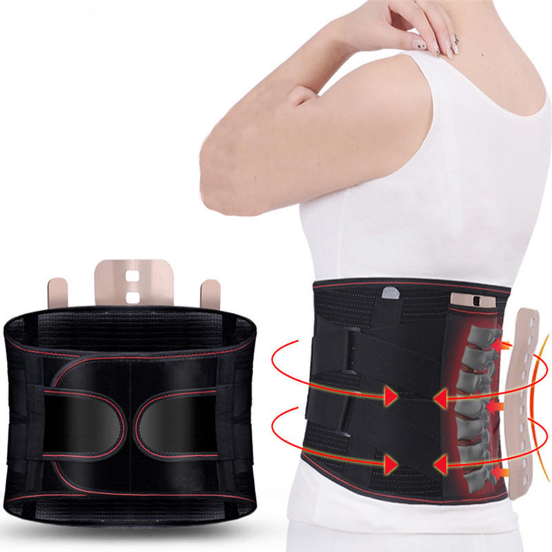 KALOAD Back Support Lumbar Shoulder Corrector Adjustable Fitness Exercise Sport Self-heating Waist Belt Protector