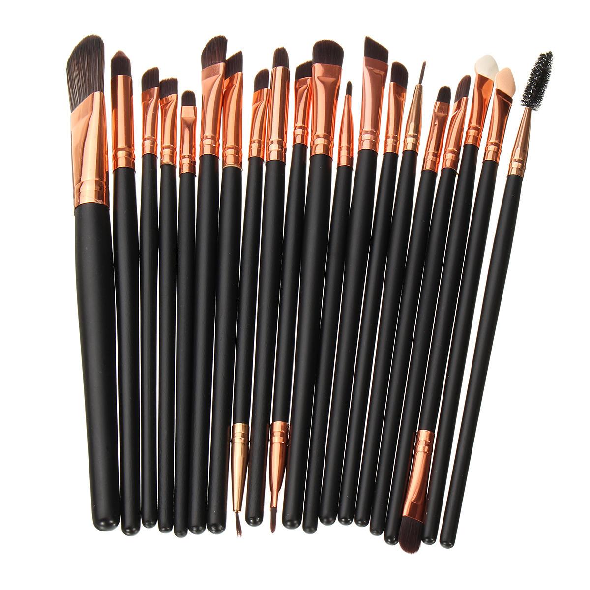 20pcs макияж кисти комплект порошка тени для век карандаш для глаз губ косметическая кисть