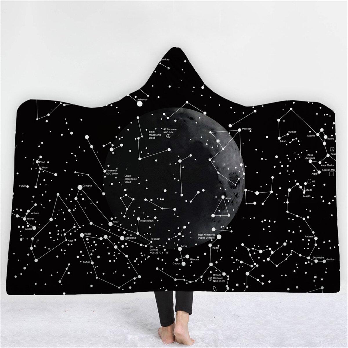 150 200cm 3d digital printing world map adult hooded blanket wearable durable blankets at banggood. Black Bedroom Furniture Sets. Home Design Ideas