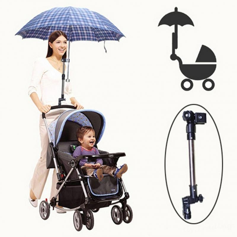 Baby Infant Stroller Umbrella Holder Bracket Pram Swivel Connector Length Angle Adjustable