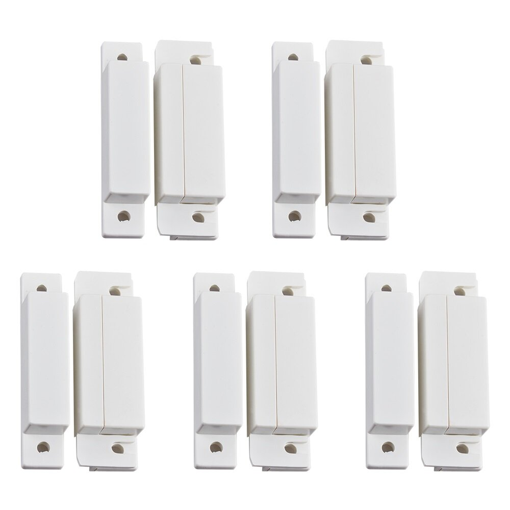 5Pcs/Lot Wired Door Window Magnetic Sensor Switch for PTSN GSM Wired Alarm System Door Detector