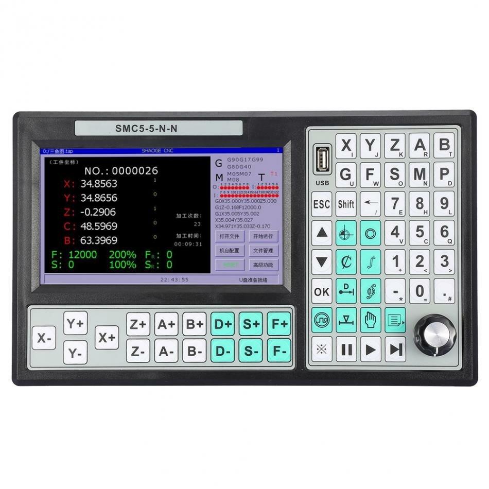 5-осевой автономный контроллер Machifit CNC 500KHZ Motion Control заменяет Mach 3 USB для гравировально-фрезерного станка