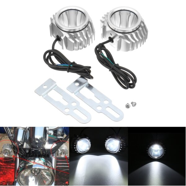 DC 12-80V Ljus dimma Spot Head Light LED Lampa Lampa Motorcykel Vit Universal