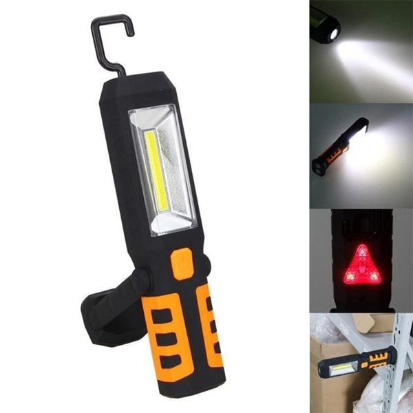 Portable 3w Cob Led Usb Rechargeable Work Light Magnetic Hanging Torch For Outdoor Camping Cod