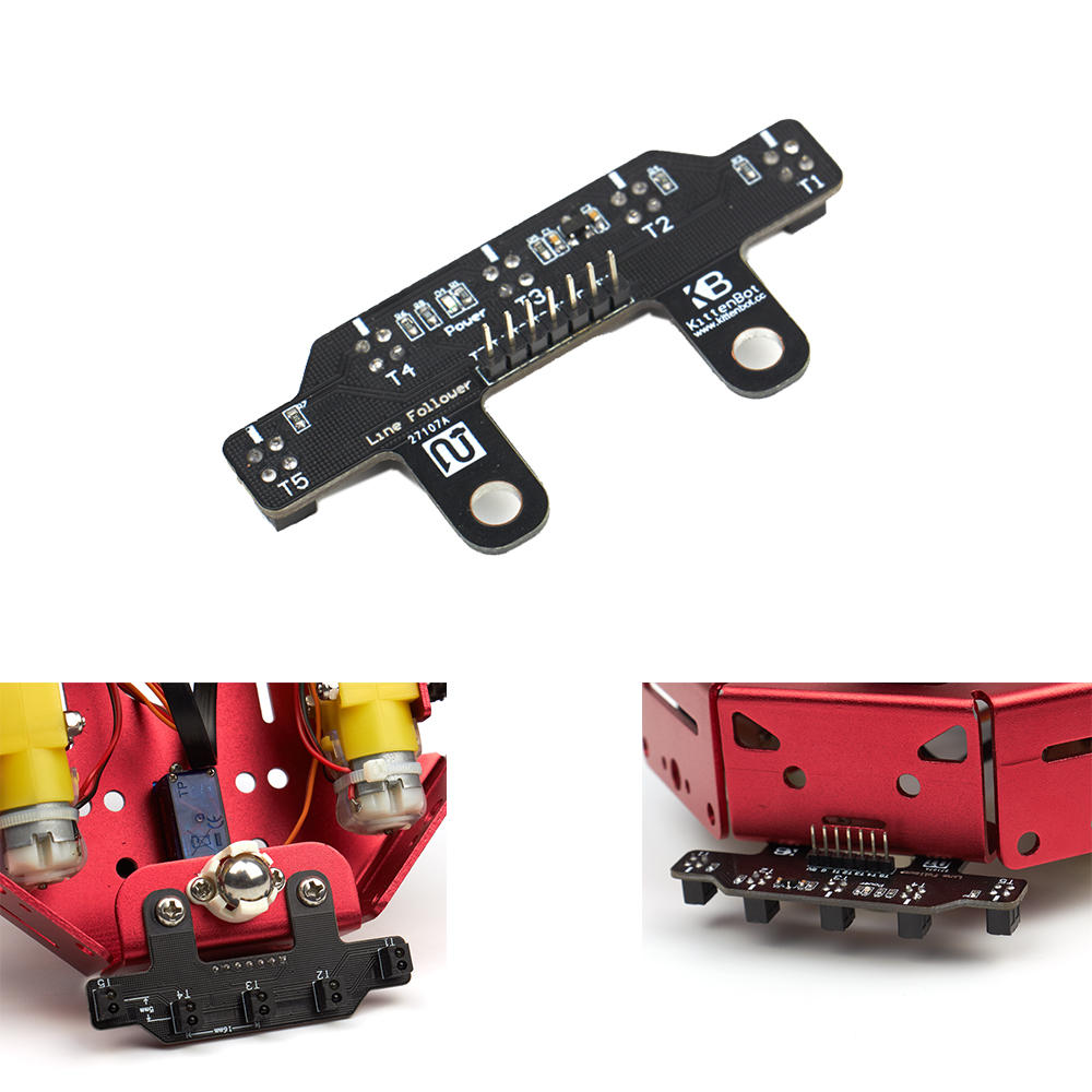KittenBot® Five Road 5 Channel Tracking Line Obstacle Avoidance Sensor Module Supports Scratch/Arduino/Makecode