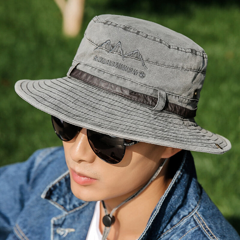e06b6b6017d Other Warehouse. Send me purchase update on Messenger. Men Women Summer  Outdoor Embroidery Cotton Fishing Hat Sunshade Adjustable ...