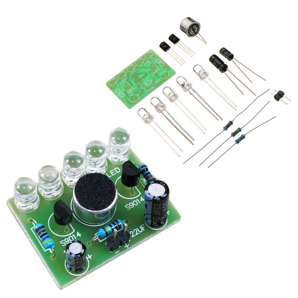 diy voice controlled melody light 5mm highlight diy led flashdiy voice controlled melody light 5mm highlight diy led flash electronic training kit cod