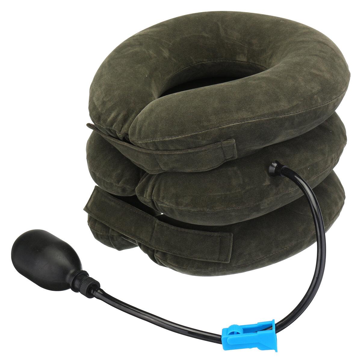 Dispositif de brancard de soutien d'appareil de soutien de traction de collier cervical gonflable portatif de collier