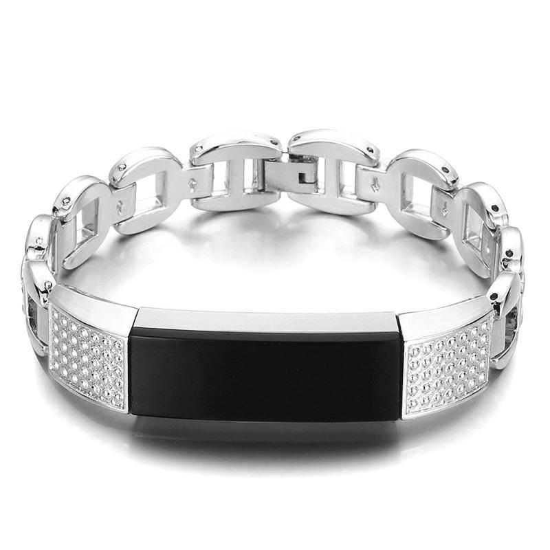 Orologio in metallo con cinturino in acciaio inossidabile di ricambio Banda per Fitbit Alta