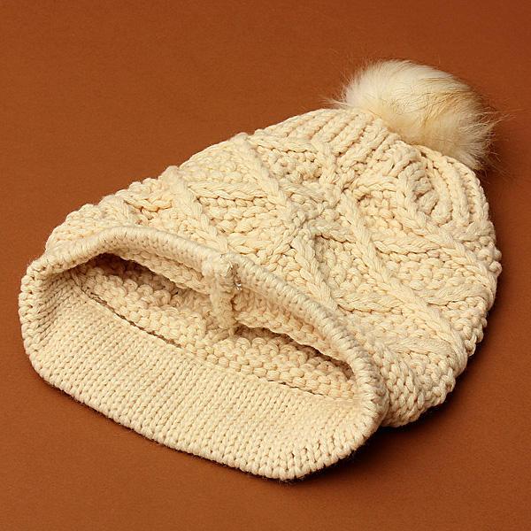 ac817801547 women ladies button crochet knit beret hat ski baggy beanie ball woolen cap  at Banggood