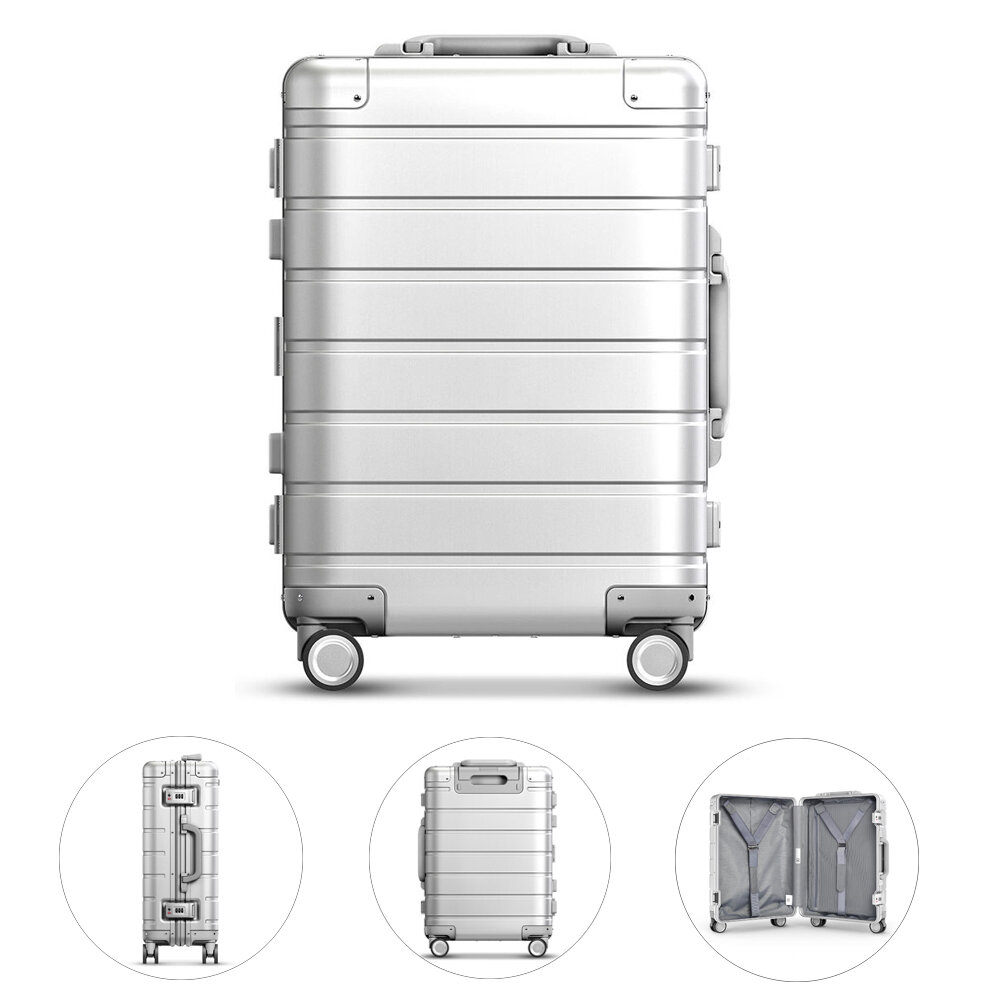 Xiaomi 90FUN 20inch Travel Suitcase 31L Aluminum Alloy TSA Lock Spinner Wheel Carry On Luggage Case