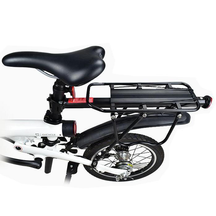 BIKIGHT Support en alliage d'aluminium pour XIAOMI Qicycle EF1 Support de chargement de vélo électrique Support arrière 90kg portant la charge Montage rapide
