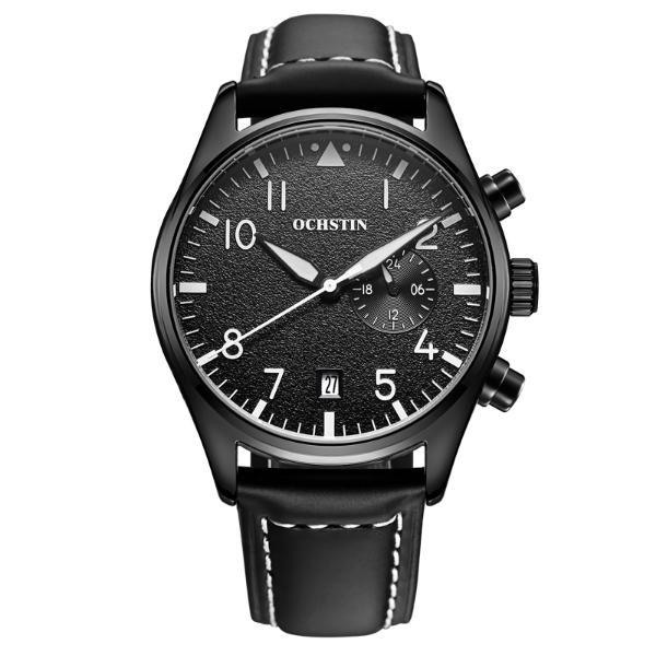 4407a59901287 OCHSTIN GQ043C Mode Hommes Quartz Montre Luxe Bracelet Cuir Montre Sport