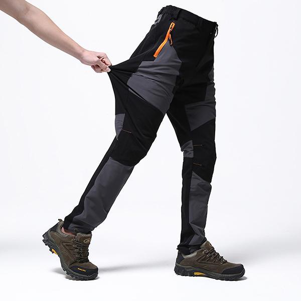 Pantalons de séchage rapide de couture extérieure des hommes Pantalons de sport imperméables coupe-vent imperméables