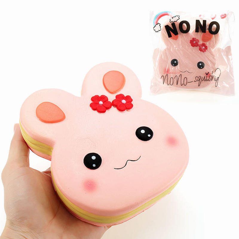 NO NO Squishy Rabbit Cake 13cm Slow Rising With Packaging Collection Gift Decor Soft Toy