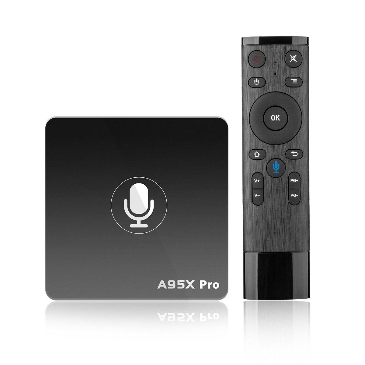 A95X Pro Amlogic S905W 2GB RAM 16GB ROM Android TV Scatola con controllo vocale