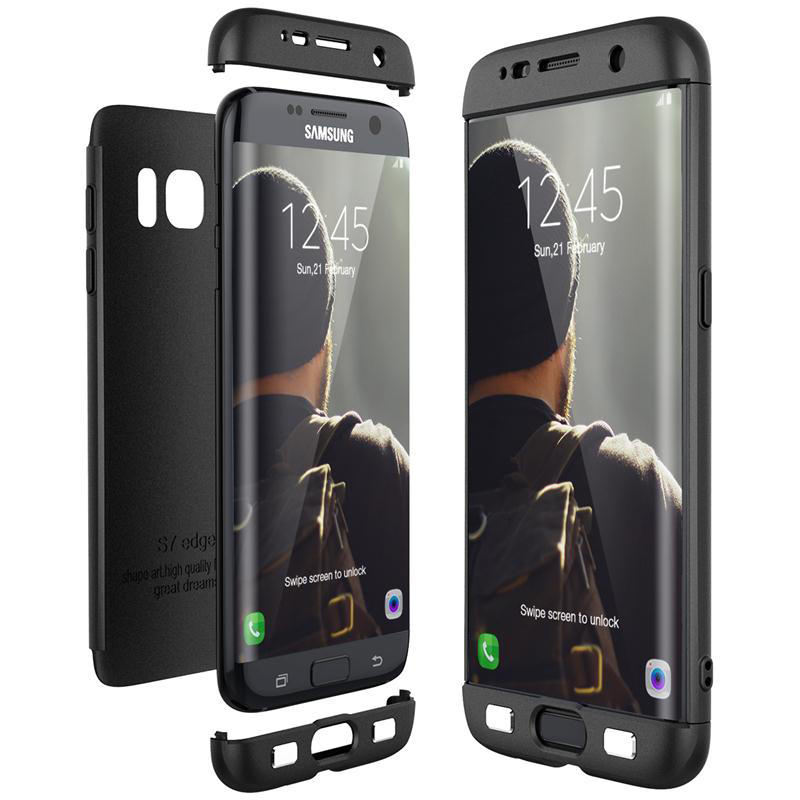 5ce8597b8dc Bakeey™ 3 in 1 Double Dip 360° Protective Case Hard PC Cover for Samsung  Galaxy S7 S7 Edge COD