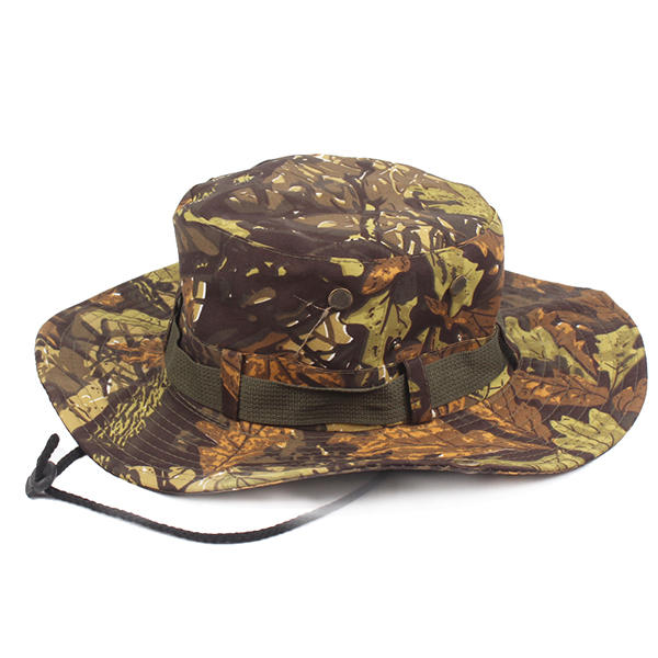 5e81279f8f Mens Camouflage Wide Birm Outdoor Fisherman Hats Military Tactical Fishing  Visors Breathable Cap -  01