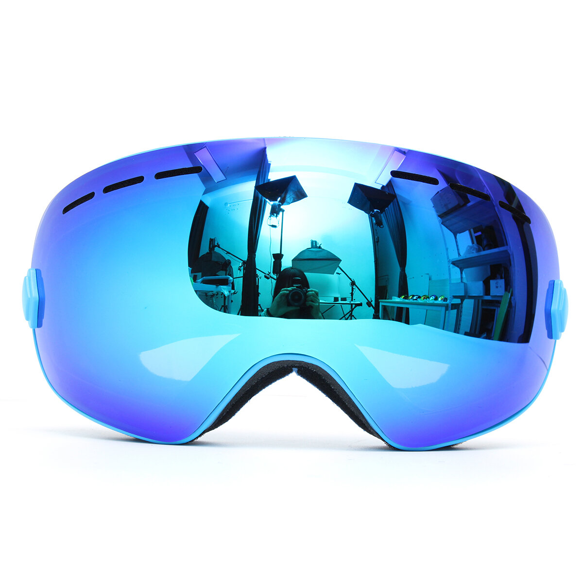 9c3403bfc7 Professional Skiing Motorcycle Snowboard Ski Goggles Anti Fog UV Double  Lens Blue COD