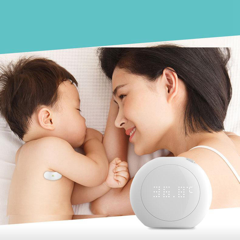 XIAOMI Fanmi Mini Portable Wireless Thermometer LED Display Smart Temperature Sticker Sensor