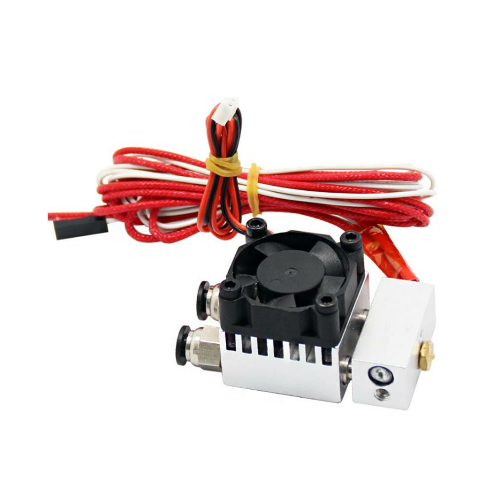 2 In 1 Out Single Head Double Color Extruder with Cooling Fan for 3D Printer 0.4mm 1.75mm Nozzle
