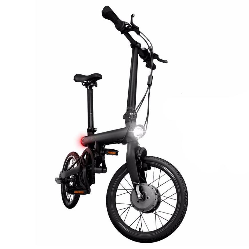 Xiaomi Smart Bici Elettrica Pieghevole Bluetooth 4.0 Bicicletta Intelligente con Luce Anteriore e Posteriore Pedali Pieghevoli Supporta App Telaio in Lega di Alluminio