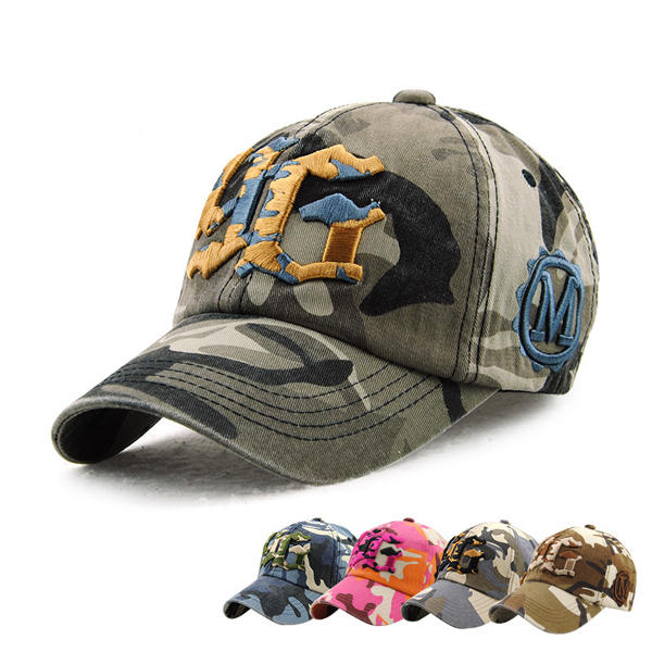 Unisex Cotton Camouflage Embroidery Baseball Cap Casual Outdoor Adjustable Golf Snapback Hat