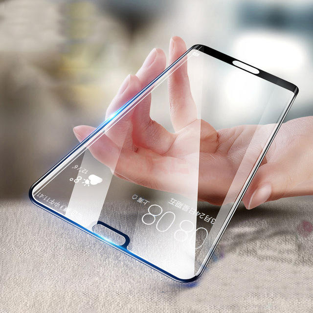 BAKEEY 3D Curved Edge Anti-Explosion Full Cover Tempered Glass Screen Protector for Huawei P20 Pro COD