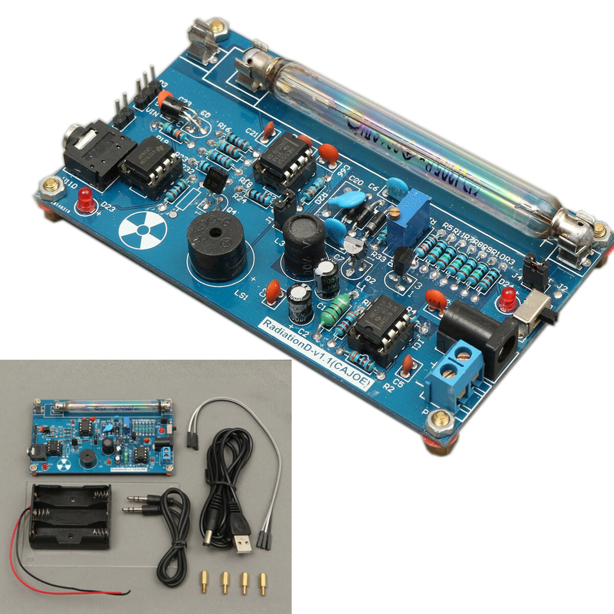 Assembled Diy Geiger Counter Kit Module Miller Tube Gm Nuclear With Usb Interface Schematics Radiation Detector