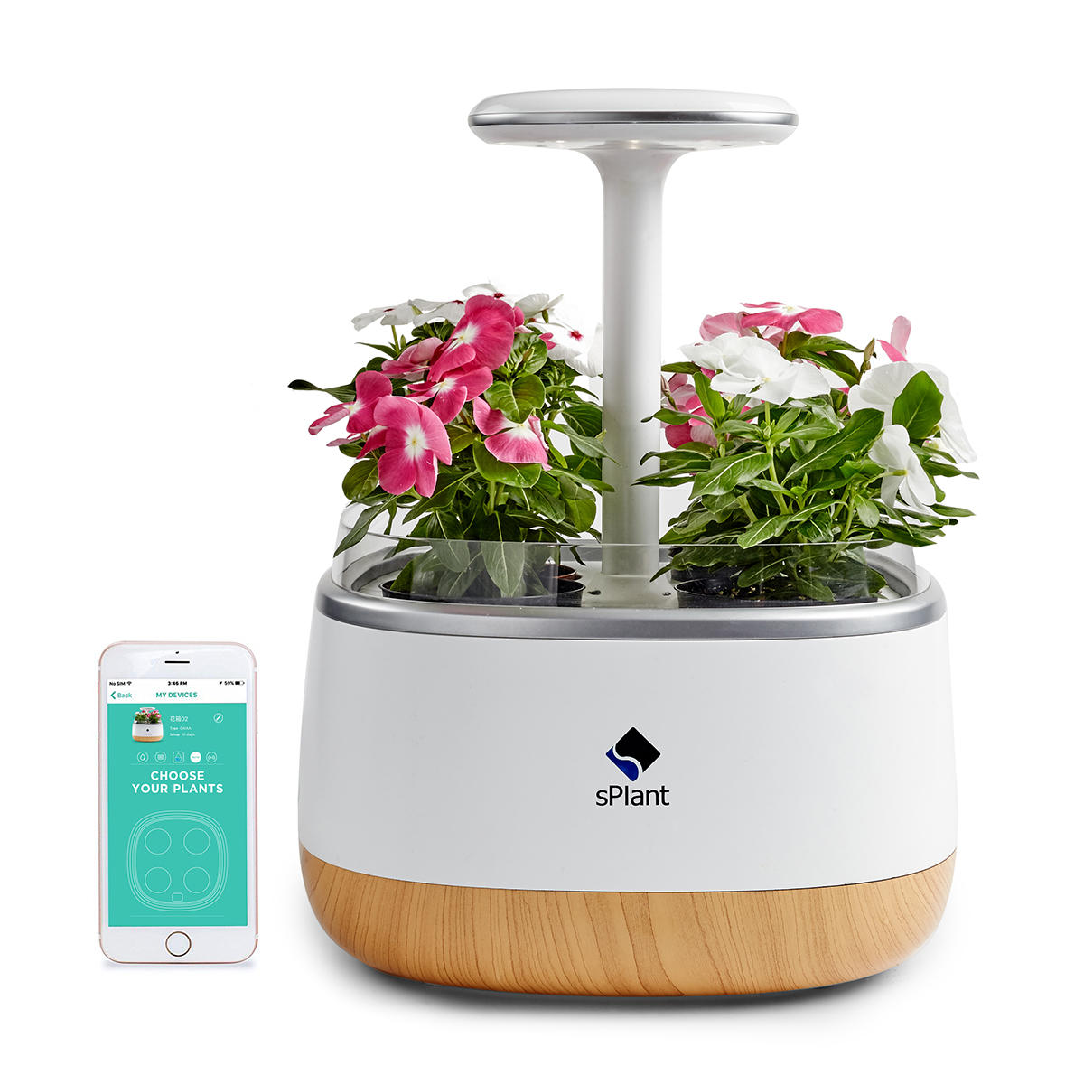 sPlant Smart Fresh Herb สวน ชุด อัจฉริยะ Sprout ในร่ม ไฟ LED สวน กระถางดอกไม้สี่ใบพร้อม App รีโมทคอนโทรล เทค