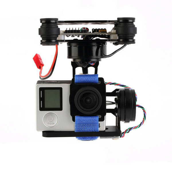 FPV 3 Axis CNC Metal Brushless Gimbal With Controller For DJI Phantom GoPro 3 4 180g for RC Drone FPV Racing
