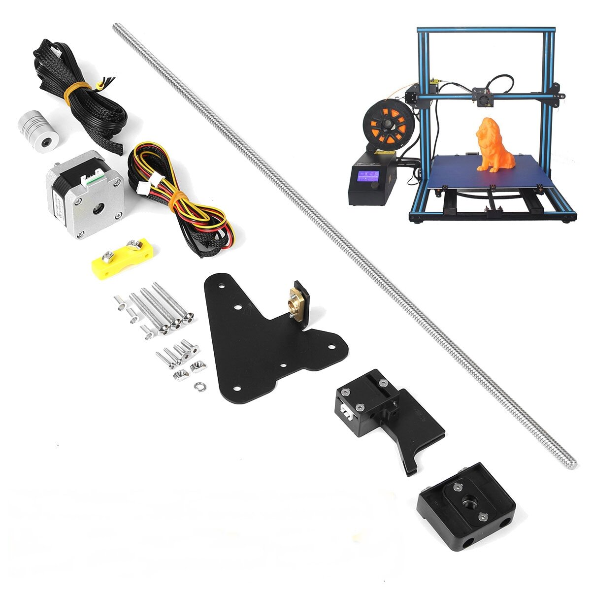Creality 3D® Dual Z-axis Upgrade Kit + Filament Sensor Kits For CR-10 3D Printer