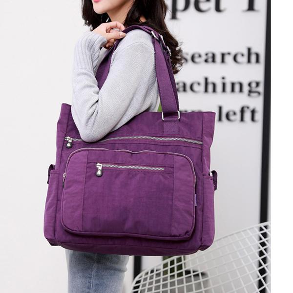 Nylon حقيبة الكتف حقيبة متعددة الوظائف رسول حفاضات للنساء