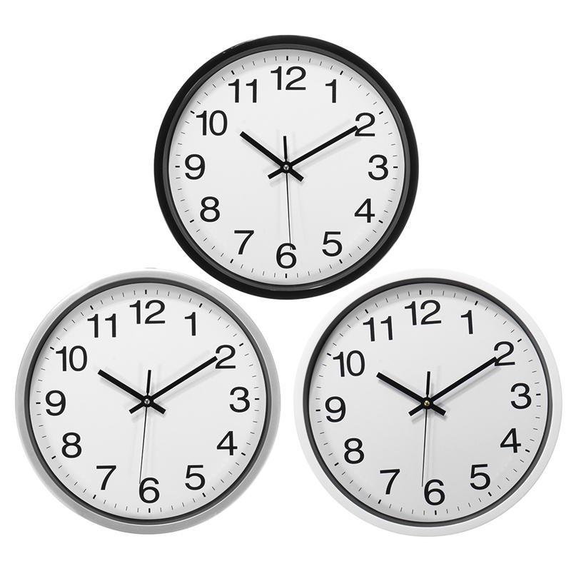 12 pouces de balayage silencieux sans horloge murale pour bureau Home Fashion Decor