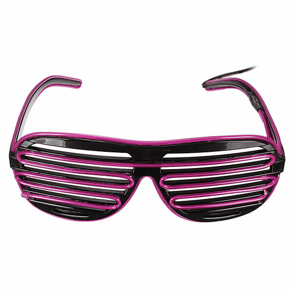 ecb6f3781c El Wire Neon LED Light Up Shutter Glasses Halloween Christmas Rave Costume  Party Hip-Hop COD