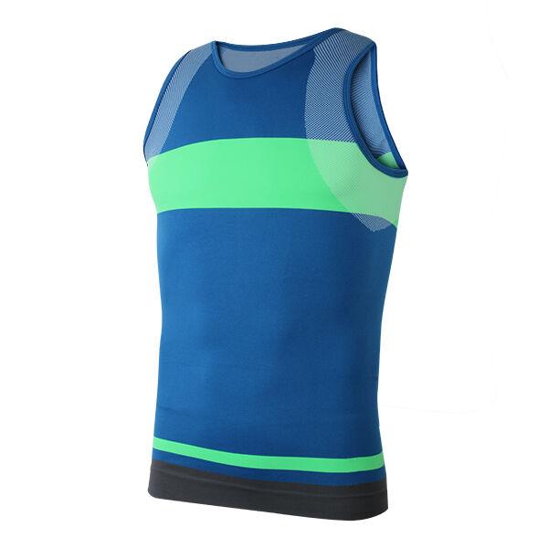 Compressão homens esportes apertados tanque veste camisa superior trecho sem mangas shaper corpo shapewear de secagem rápida