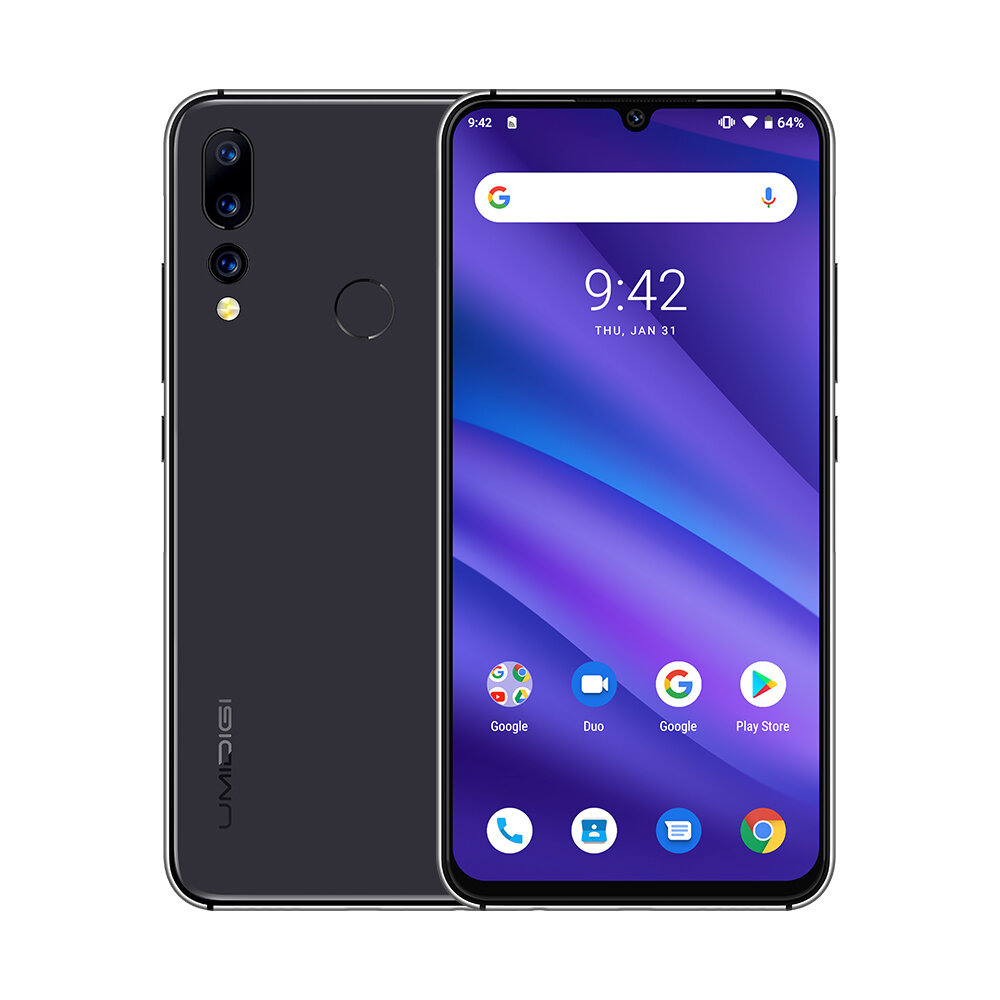 UMIDIGI A5 Pro Global Version 6.3 Inch FHD+ Waterdro Display Android 9.0 4150mAh Triple Rear Cameras 4GB 32GB Helio P23 4G Smartphone – Space Grey EU Version