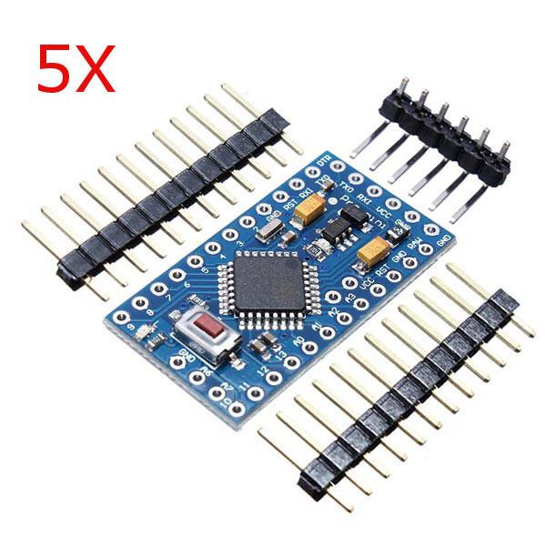 5Pcs ATMEGA328 328p 5V 16MHz Arduino Compatibile Nano Scheda modulo moduli