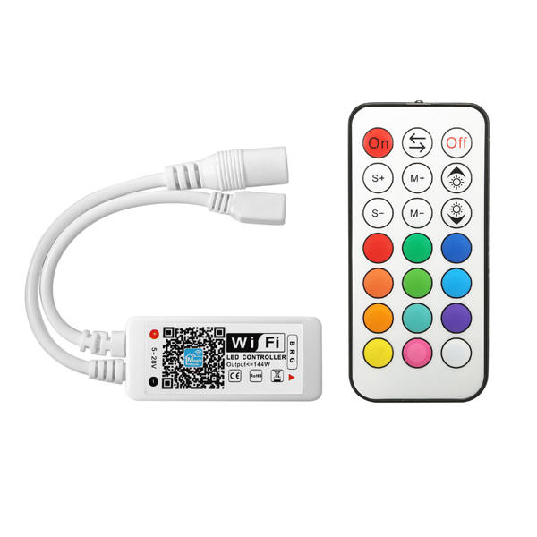 arilux al lc09 super mini led wifi app controller rf fernbedienung f r rgb led strip dc9 28v. Black Bedroom Furniture Sets. Home Design Ideas