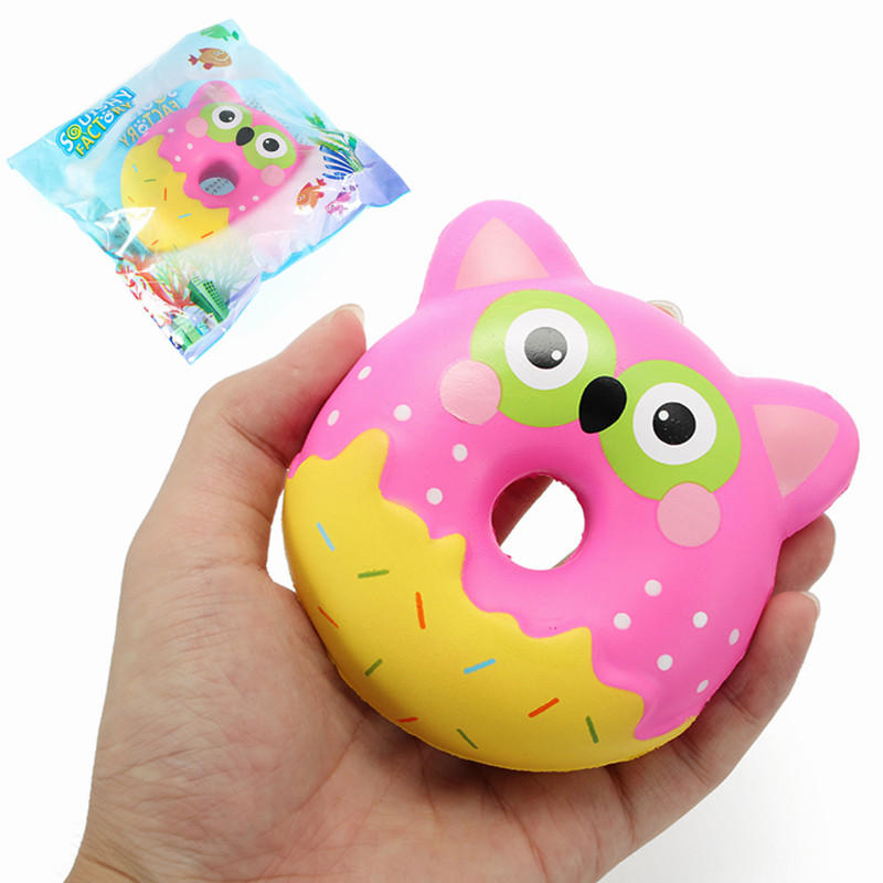 Squishy Factory Uil Donut 10cm Soft Slow Rising Met Packaging Collection Gift Decor Toy