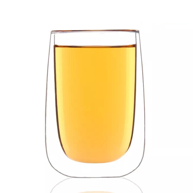 1Pc 400ml Double-layer Heat-resistant Glass Cup Mug