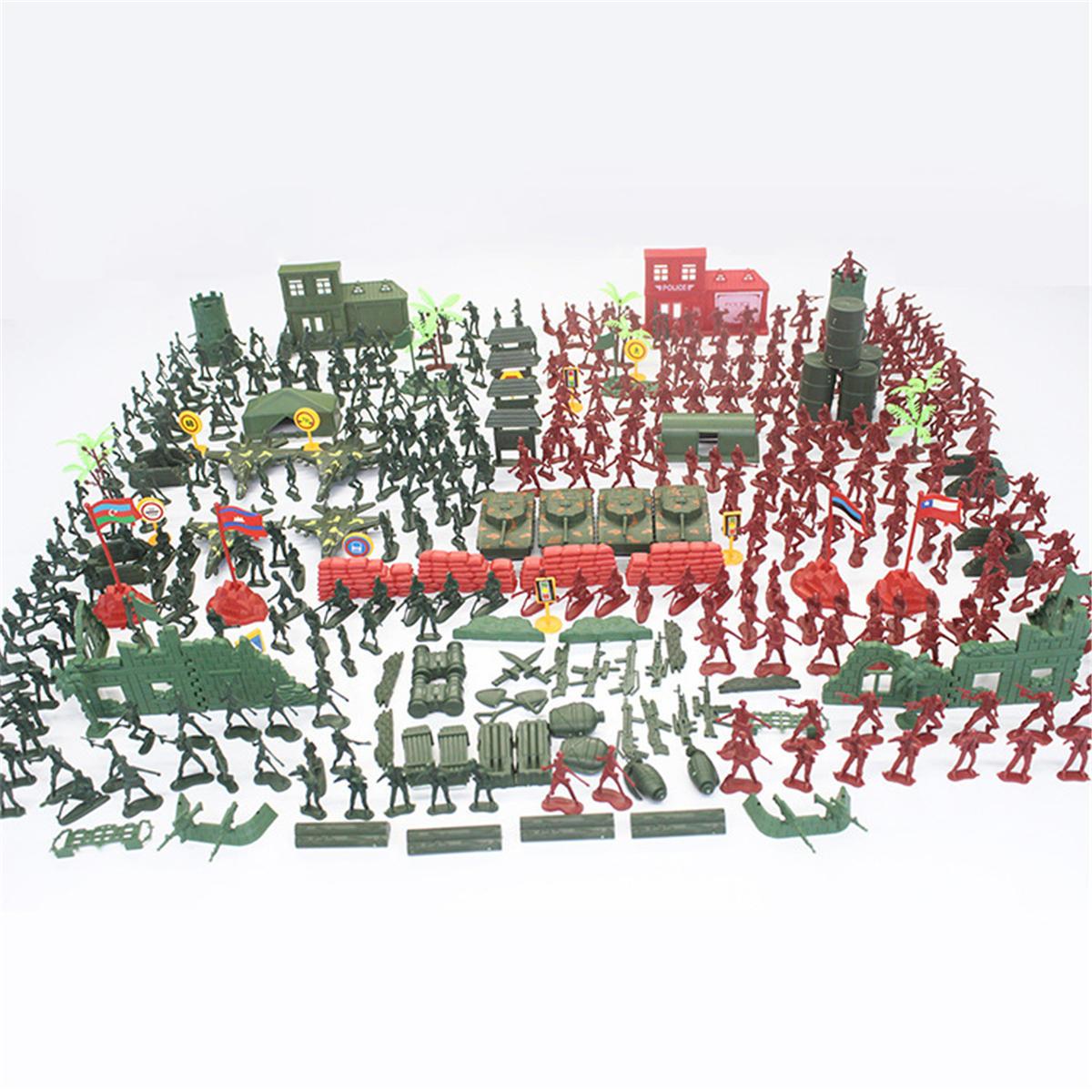 Imagen de 330pcs militar Figuras y accesorios de juguetes de juguete para niños