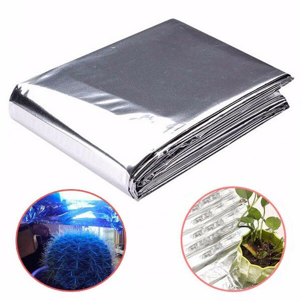 82x51 Inch Silver Plant Reflective Film Grow Light Accessories Greenhouse Reflectance Coating