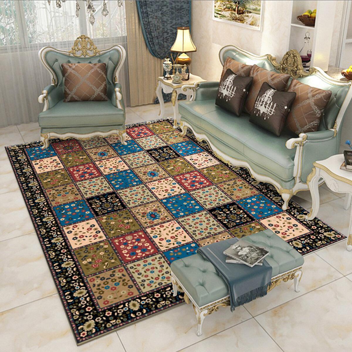 Bohemian Carpet Carpet Rug Bedside Rug Geometric Floor Mat Living Room Bedroom Carpet for Home Decor