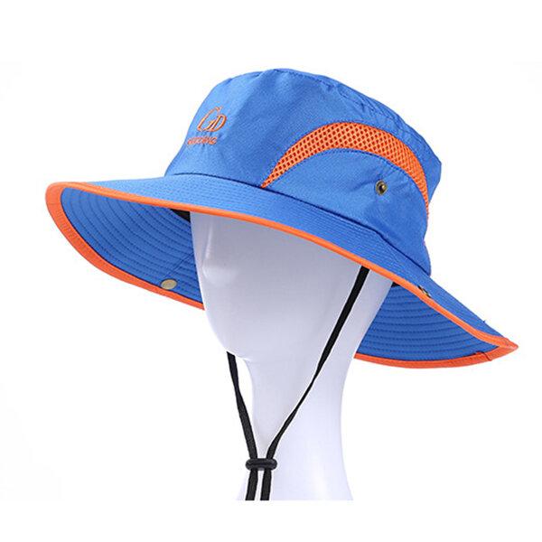 b816749f Mens Wide Brim Summer Breathable Fisherman Hat Casual Outdoor Travel Visor  Bucket Hats