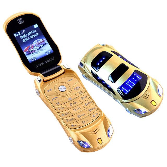 4dac915b1fb NEWMIND F15 Flip Cellphone 1.8   800mAh Flashlight Mp4 FM Radio Dual Sim  Car Model Mini Card Phone COD