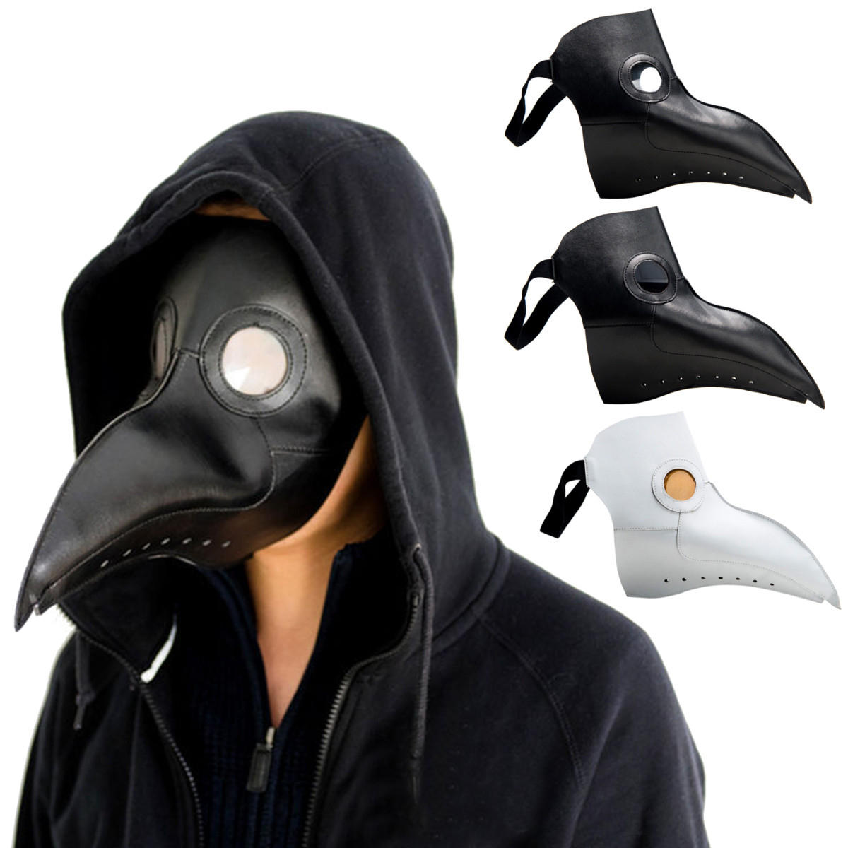 f0d4fcb9d0e86 Steampunk Plague Doctor Mask Bird Beak Halloween Prop Cosplay Punk Gothic  Masks COD